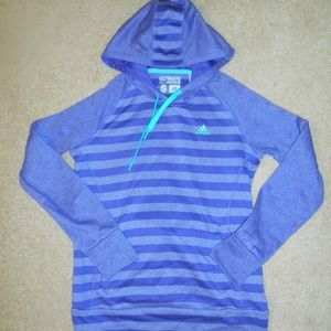 Adidas Ultimate Hoodie Womens S Purple Stripe GC